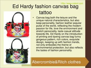 Ed hardy fashion canvas bag tattoo