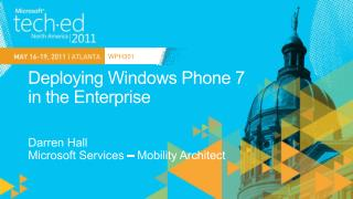 Deploying Windows Phone 7  in the Enterprise
