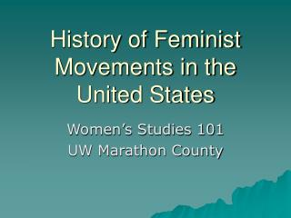 History of Feminist Movements in the United States