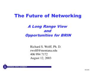 The Future of Networking  A Long Range View  and  Opportunities for BRIN
