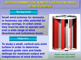 AERODYNAMICS OF A NOVEL VERTICAL AXIS WIND TURBINE