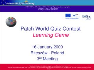 Patch World Quiz Contest  Learning Game