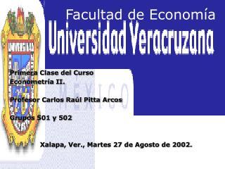 Facultad de Econom a