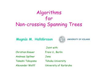 Algorithms  for  Non-crossing Spanning Trees