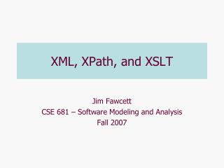 XML, XPath, and XSLT