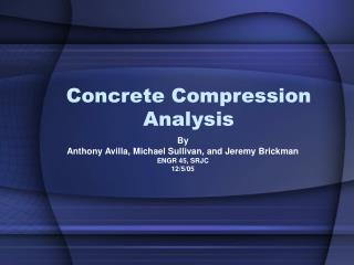 Concrete Compression Analysis