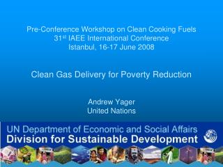 Pre-Conference Workshop on Clean Cooking Fuels 31st IAEE International Conference Istanbul, 16-17 June 2008   Clean Gas