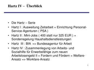 Hartz IV     berblick