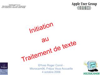 Initiation  au  Traitement de texte