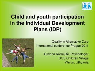 Child and youth participation in the Individual Development Plans IDP