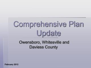 Comprehensive Plan Update