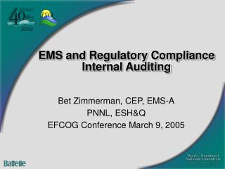 EMS and Regulatory Compliance Internal Auditing