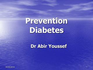 Prevention Diabetes