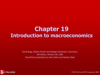 Chapter 19 Introduction to macroeconomics