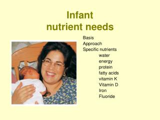 Infant nutrient needs