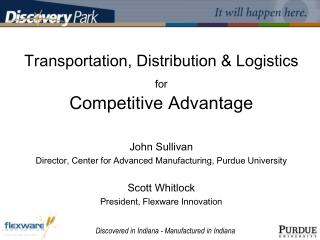 Transportation, Distribution  Logistics  for  Competitive Advantage