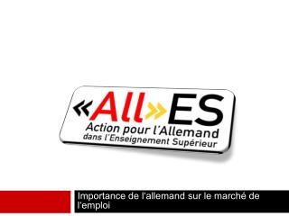 Importance de l allemand sur le march  de l emploi