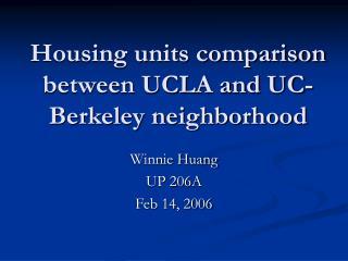 Housing units comparison between UCLA and UC-Berkeley neighborhood