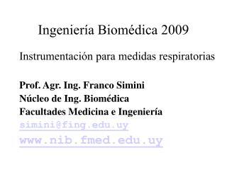 Ingenier a Biom dica 2009