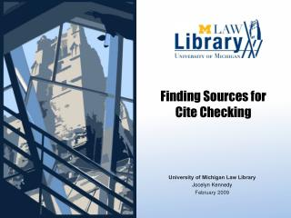 Finding Sources for Cite Checking