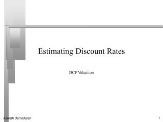 Estimating Discount Rates