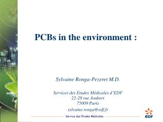 PCBs in the environment :