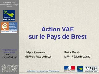 Action VAE  sur le Pays de Brest