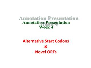 Annotation Presentation Week 4