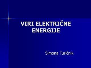 VIRI ELEKTRICNE ENERGIJE