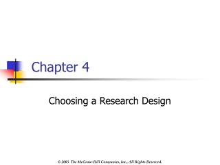 Choosing a Research Design