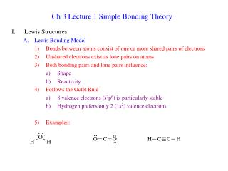 Ch 3 Lecture 1 Simple Bonding Theory