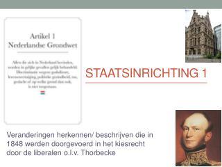 Staatsinrichting 1