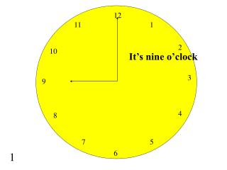 It s nine o clock