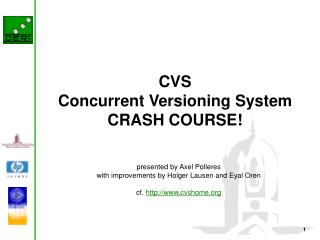CVS Concurrent Versioning System CRASH COURSE