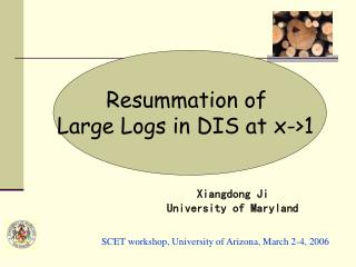 Resummation of  Large Logs in DIS at x-1