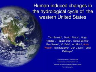 Human-induced changes in the hydrological cycle of  the western United States