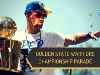 Golden State Warriors championship parade