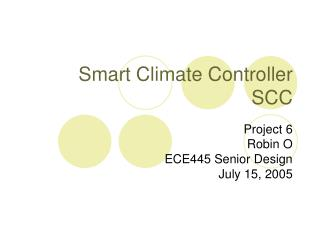 Smart Climate Controller SCC