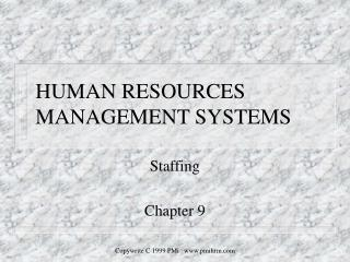 HUMAN RESOURCES MANAGEMENT SYSTEMS
