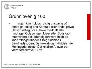 Grunnloven   100