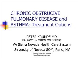 CHRONIC OBSTRUCIVE PULMONARY DISEASE and ASTHMA: Treatment Options