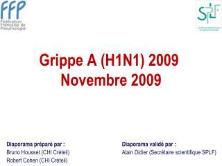 Grippe A H1N1 2009  Novembre 2009