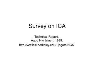 Survey on ICA