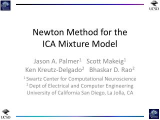 Newton Method for the ICA Mixture Model
