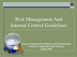 Risk Management And Internal Control Guidelines