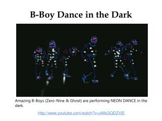 B-Boy Dance in the Dark