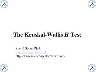 The Kruskal-Wallis H Test