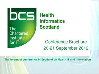 Conference Brochure 20-21 September 2012