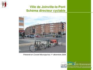 Ville de Joinville-le-Pont Sch ma directeur cyclable