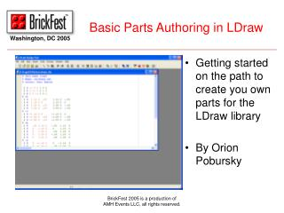 Basic Parts Authoring in LDraw